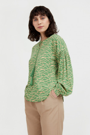свободная блуза с завязками-кисточками Finn-Flare